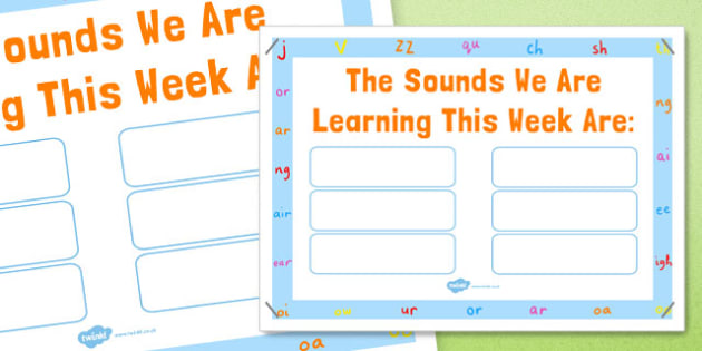 Sounds of This Week Poster - sounds, this week, poster, display