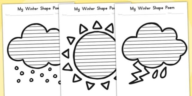 Winter Shape Poetry Temperate - poems, poem, seasons, weather