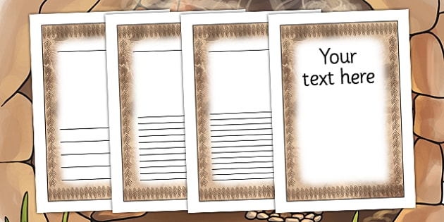 Stone Age Themed Writing Frames - history, writing template
