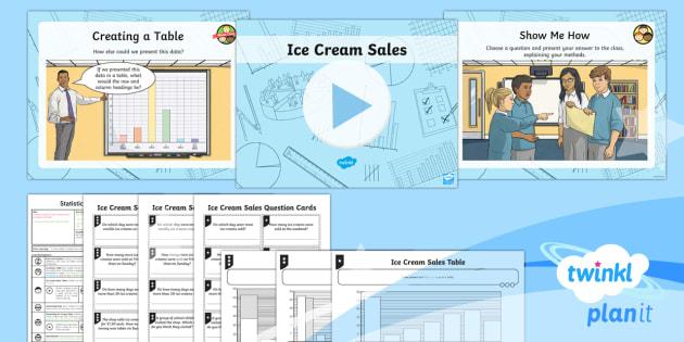 PlanIt Y3 Statistics Lesson Pack Charts and Graphs (5) - Statistics, tally chart, data handling, table, interpreting data, Interpret and present data using b
