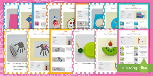 Diwali Craft Activity Pack - Diwali, craft, activity pack, Hinduism, paper craft