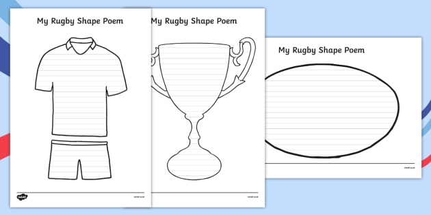 Rugby Shape Poetry - rugby, shape poetry, shape, poetry, poem