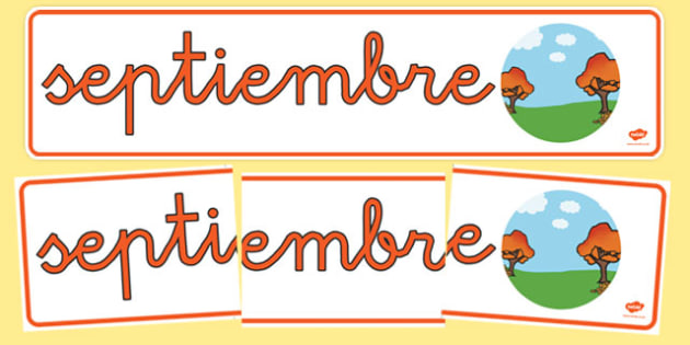Pancarta - Septiembre - meses, verano, mural, estacaiones