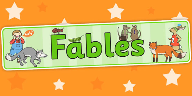 Fables Display Banner - Aesop's fables, header, stories, books
