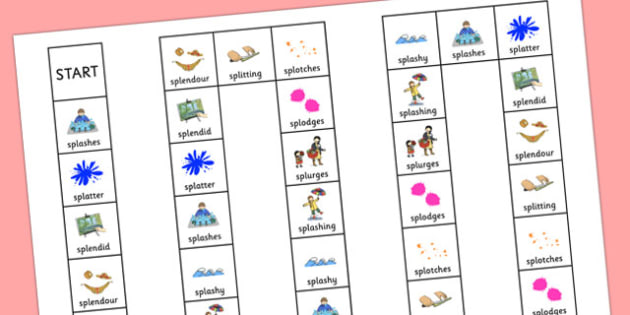 Two Syllable SPL Board Game - speech sounds, phonology, articulation, speech therapy, cluster reduction, complex clusters, three element clusters