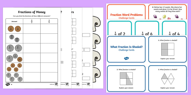 Fractions of Amounts Find Fractions Resources Teaching – Finding Fractions of Amounts Worksheets
