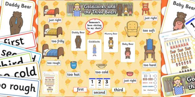 Ready Made Goldilocks and The Three Bears Display Pack - display