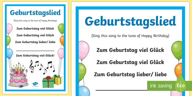 Birthday Song Lyrics German - Birthday Song, birthday, German