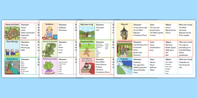 Traditional Tales Re-Telling Prompts - literacy, story, visual