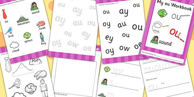 Phase 5 ou Grapheme Workbook - phase five, graphemes, literacy