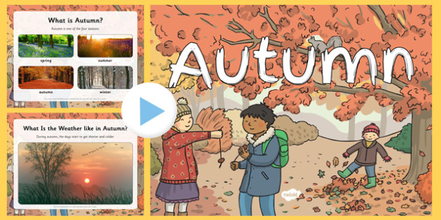 Autumn EYFS PowerPoint - early years, presentation, information, seasons, facts, hibernation