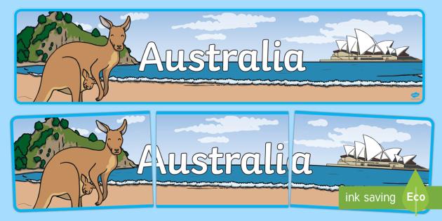 Australia Display Banner - display, banner, display banner, poster, australia, australia display, australia banner, countries banner, country banner, sign, classroom display, themed banner