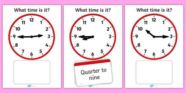 Clock Matching Game Fifteen Minutes - clock, matching, game, match, fifteen minutes