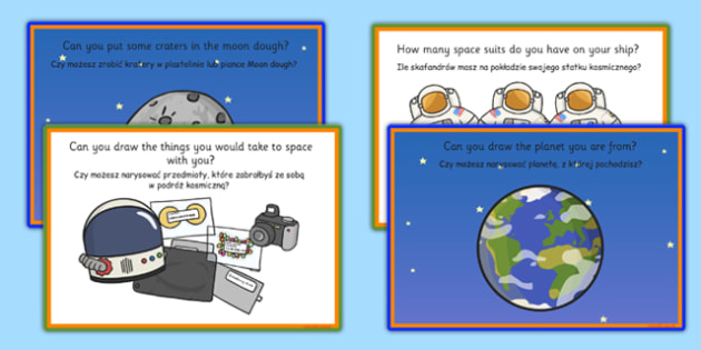 Challenge Cards Spaceship Polish Translation - polish, challenge cards, space ship