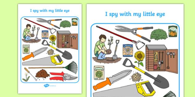 Gardening Themed I Spy With My Little Eye Activity Sheet - i spy with my little eye, i spy, activity, gardening, worksheet