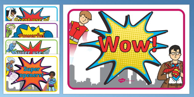 VCOP Superhero Display Posters - vcop, superheroes, superhero, display posters, display, posters