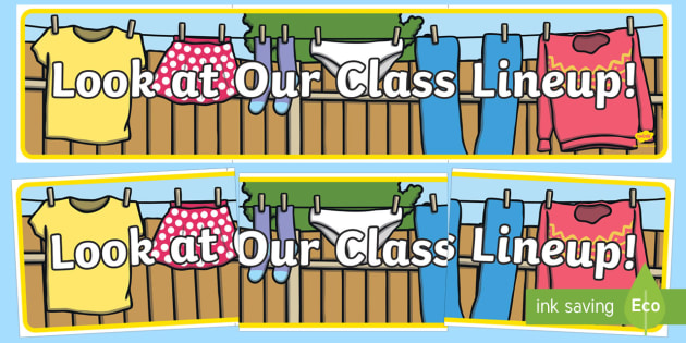 Look at Our Class Lineup Display Banner - Back to School, Australia, class names, class members, clothes line, washing line, name display, dis