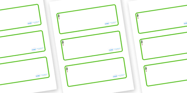 Redwood Themed Editable Drawer-Peg-Name Labels (Blank) - Themed Classroom Label Templates, Resource Labels, Name Labels, Editable Labels, Drawer Labels, Coat Peg Labels, Peg Label, KS1 Labels, Foundation Labels, Foundation Stage Labels, Teaching Labe