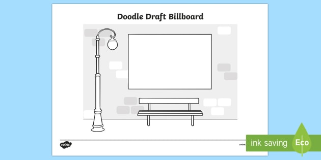 Doodle Draft Billboard Activity Sheet