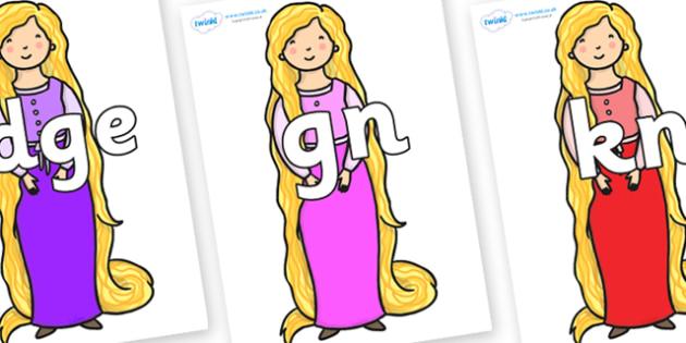 Silent Letters on Rapunzel - Silent Letters, silent letter, letter blend, consonant, consonants, digraph, trigraph, A-Z letters, literacy, alphabet, letters, alternative sounds