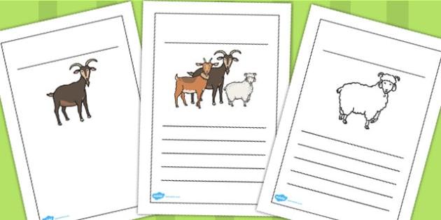 The Three Billy Goats Gruff Writing Frames - writing, frames