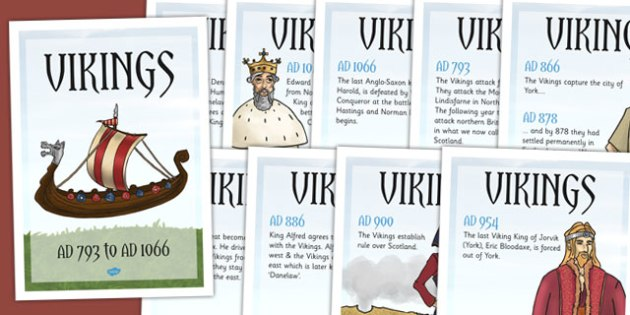 Viking Timeline Posters - history, ks2 history, display, vikings