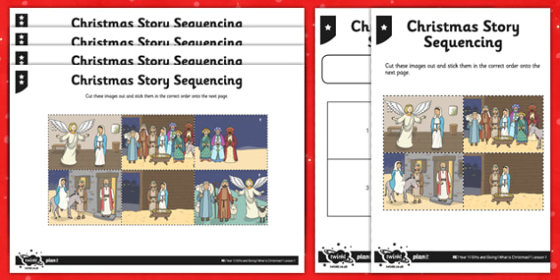 Christmas Story Sequencing - christmas, story sequencing, story, sequence