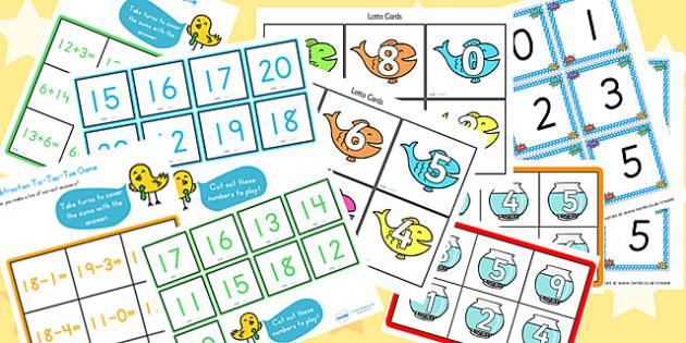 KS1 Addition and Subtraction Starter Ideas Pack - ks1, starter ideas, ideas