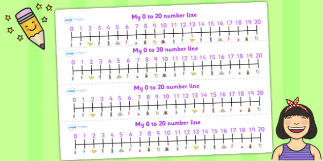 Aladdin Number Lines 0 20 - aladdin, numberline, 0-20, visual aid