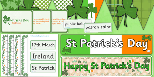 St Patrick's Day Display Pack -  celebration, celebrate, Ireland