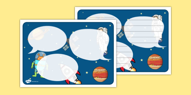 Space Themed Speech Bubbles - Space, aliens, planets, speech bubbles, observation
