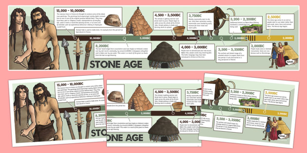 Stone Age Timeline - stone age, timeline, history, visual aids