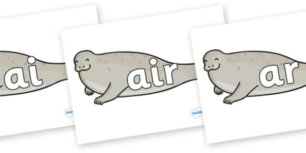 Phase 3 Phonemes on Seals - Phonemes, phoneme, Phase 3, Phase three, Foundation, Literacy, Letters and Sounds, DfES, display