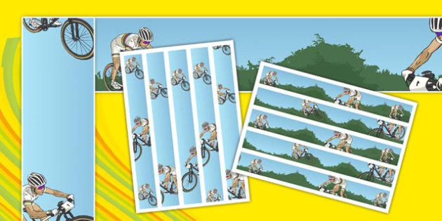 Rio 2016 Olympics Mountain Biking Display Borders - rio olympics, 2016 olympics, rio 2016, mountain biking, display borders
