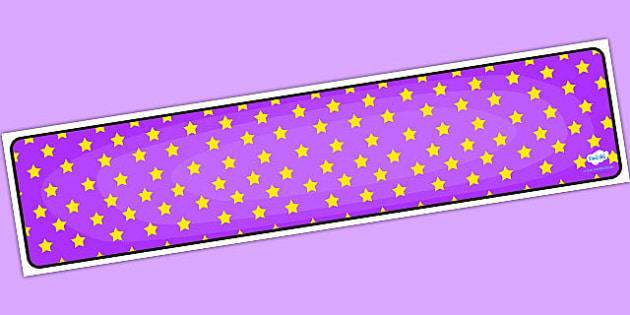 Purple with Yellow Stars Editable Display Banner - purple, display, banner, display banner, display header, themed banner, editable banner, editable