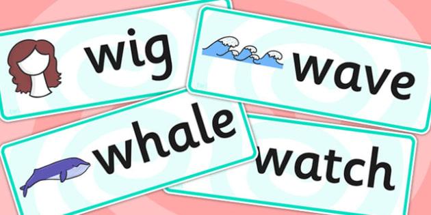 Initial w Sound Word Cards - initial w, sounds, w sound, cards