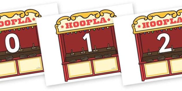 Numbers 0-31 on Hoopla Stands - 0-31, foundation stage numeracy, Number recognition, Number flashcards, counting, number frieze, Display numbers, number posters