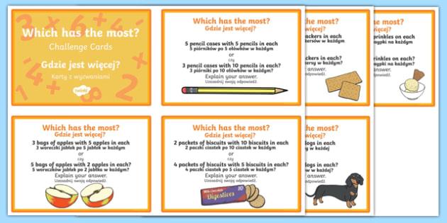 Which has the most challenge cards Polish Translation-Polish-translation