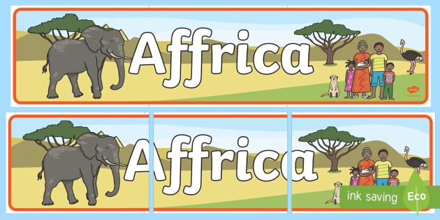 Affrica Baner Arddangosfa - Dysgu Cymraeg fel Ail Iaith, Affrica, Sypreis Affrica, Cymraeg, iaith, Welsh
