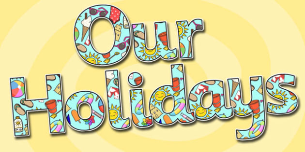 Our Holidays Display Lettering - our holidays, holidays, display lettering, display letters, holidays display, display, lettering, letters, holiday letters