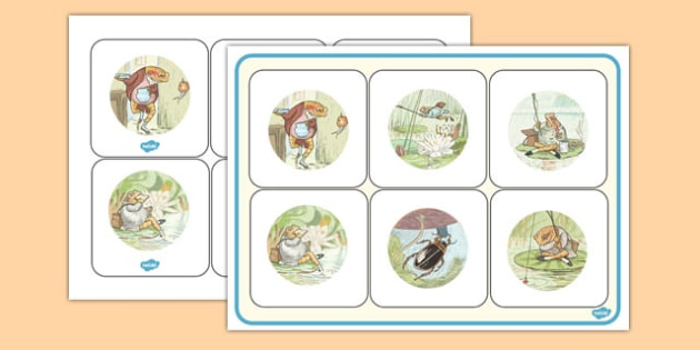 The Tale of Mr Jeremy Fisher Matching Mat - Beatrix Potter, frog, match