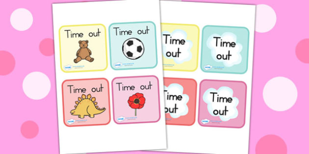 Time Out Cards - time out, behaviour management, cards, behaviour
