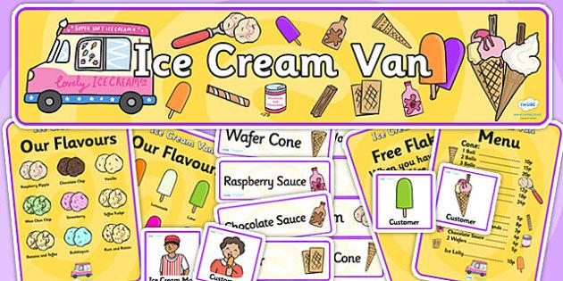 Ice Cream Van Role Play Pack-ice cream van, role play, ice cream van pack, role play pack, role play materials, shop role play, activities