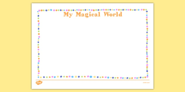 My Magical World Activity Sheet - my magical world, activity sheet, activity, magical world, imagination, worksheet