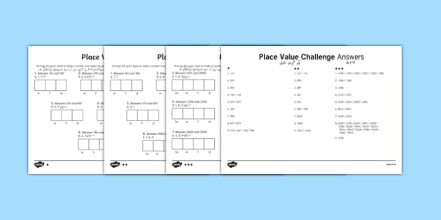 Place Value Challenge Activity Sheet Urdu Translation - urdu, place value, place value worksheet, ks2 maths worksheet, place value challenges, work with place values, make the number