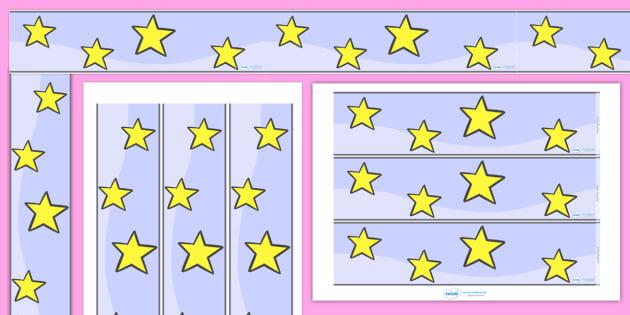 Star Display Borders - star, stars, display, borders, classroom borders, display borders, night, sky, twinkle, bright