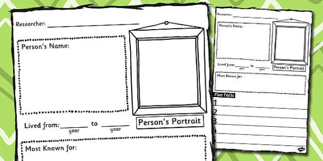 Biography Writing Frame  Writing Frame Biography Write