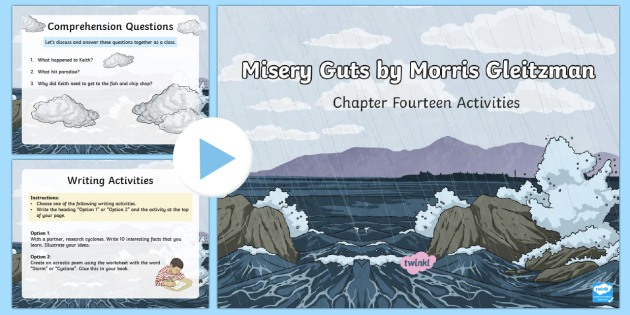 Chapter 14 Activities to Support Teaching on Misery Guts by Morris Gleitzman PowerPoint-Australia - Literacy, powerpoint, literature, australian curriculum, literature, novel study, misery guts by mor