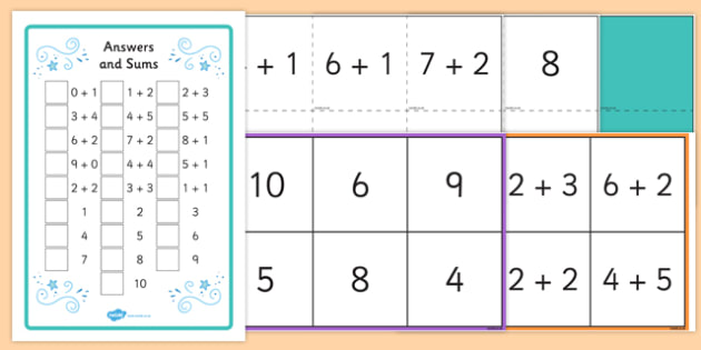 Maths Sums up to 10 Bingo and Lotto Pack - maths, bingo, lotto