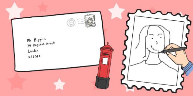 Large Postage Stamp Design Template - postage, design, stamp